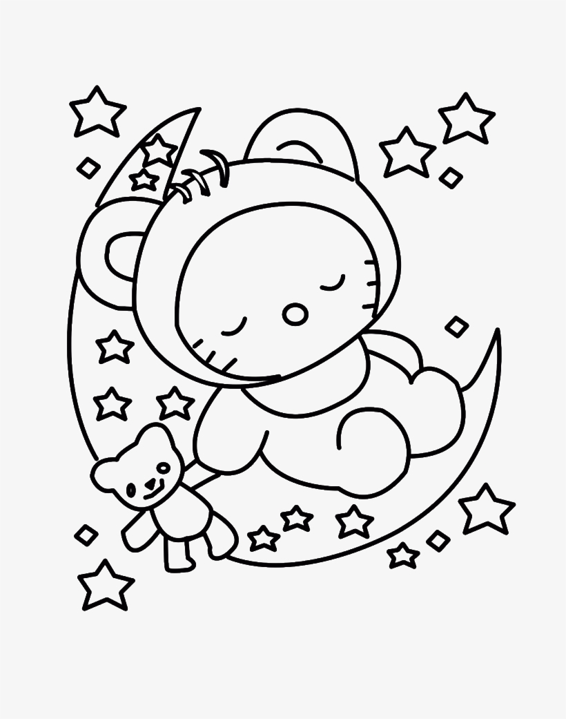 Fabulous Freelo Kitty Coloring Pages 4916273_gallery Christmas Eve Sleeping  Gallery Sheet – Approachingtheelephant