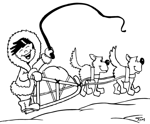 Dog Sled #2 (Transportation) – Printab #2123373 - PNG Images - PNGio