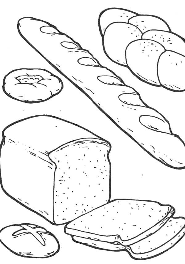 Various Kind Of Bread Coloring Pages ...pinterest.com