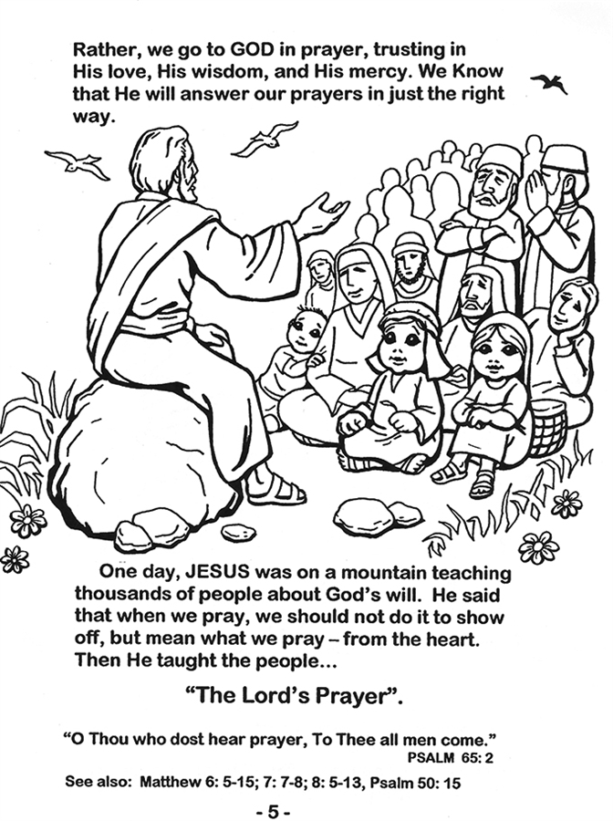 The Lord's Prayer Coloring Book by Scott Blazek Children learn the  petitions of the Lords Prayer through coloring activities.