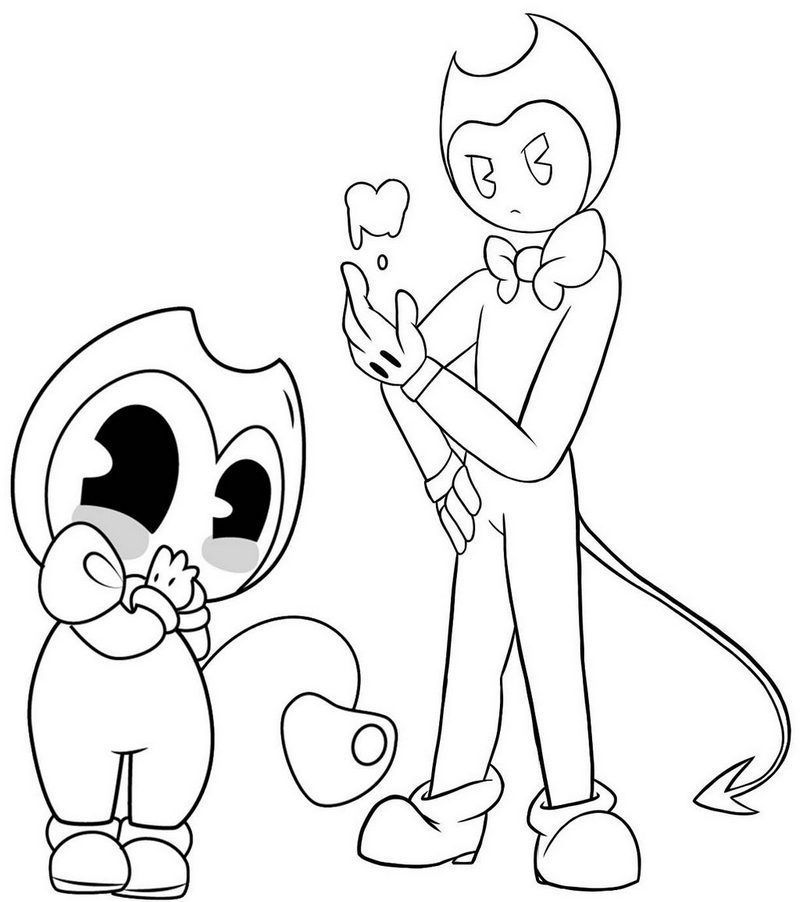 Bendy And The Ink Machine Coloring Pages - Coloring Home