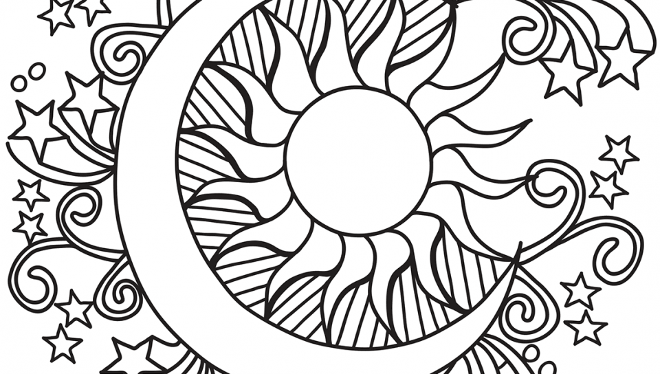Cool Coloring Pages Sun And Moon - Coloring Home