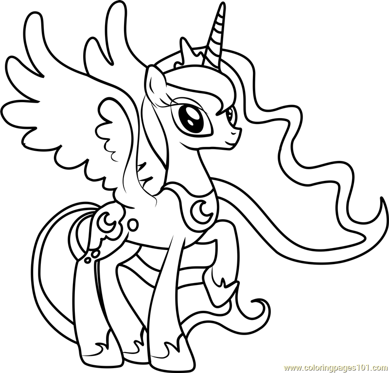 My Little Pony Luna Coloring Pages Coloring Home