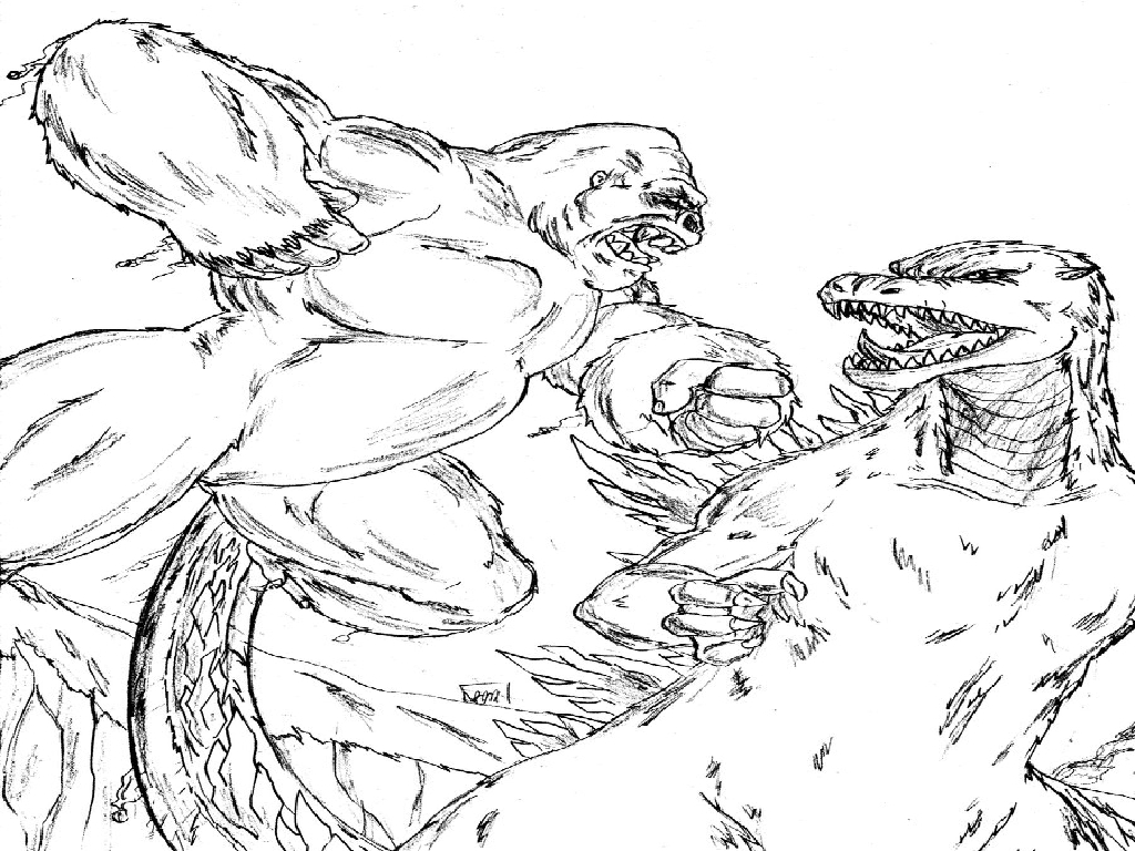 King Kong Coloring Page Az Coloring Pages