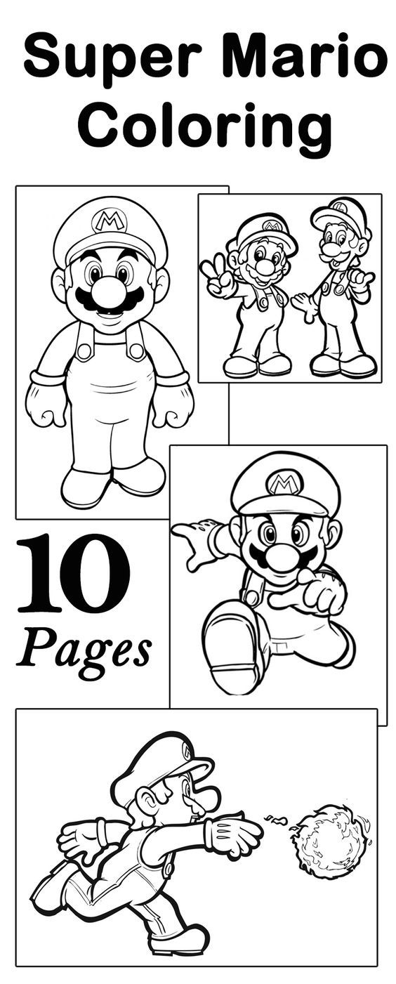 online mario coloring pages - photo#38