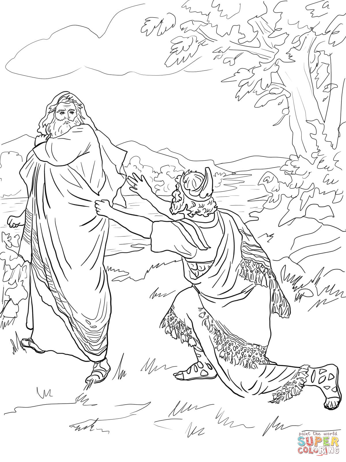 Coloring Pages King : King saul coloring page home