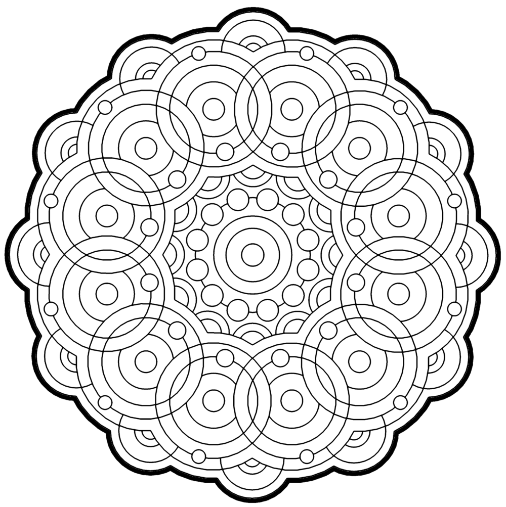 fractal coloring pages for kids - photo#24