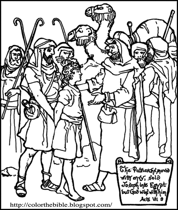 Coloring Page: Joseph sold into slavery by his brothers
