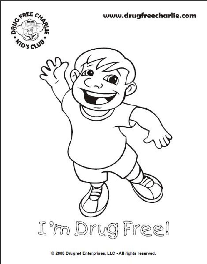 anti drug coloring pages printable - photo#2