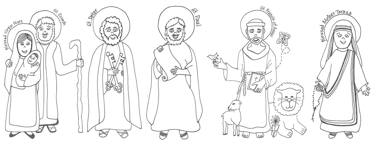Saint Francis Blessing Animals Coloring Page - TheCatholicKid.com ... | 467x1210