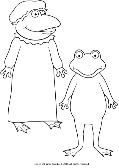Froggy Gets Dressed Coloring Pages - Coloring Home