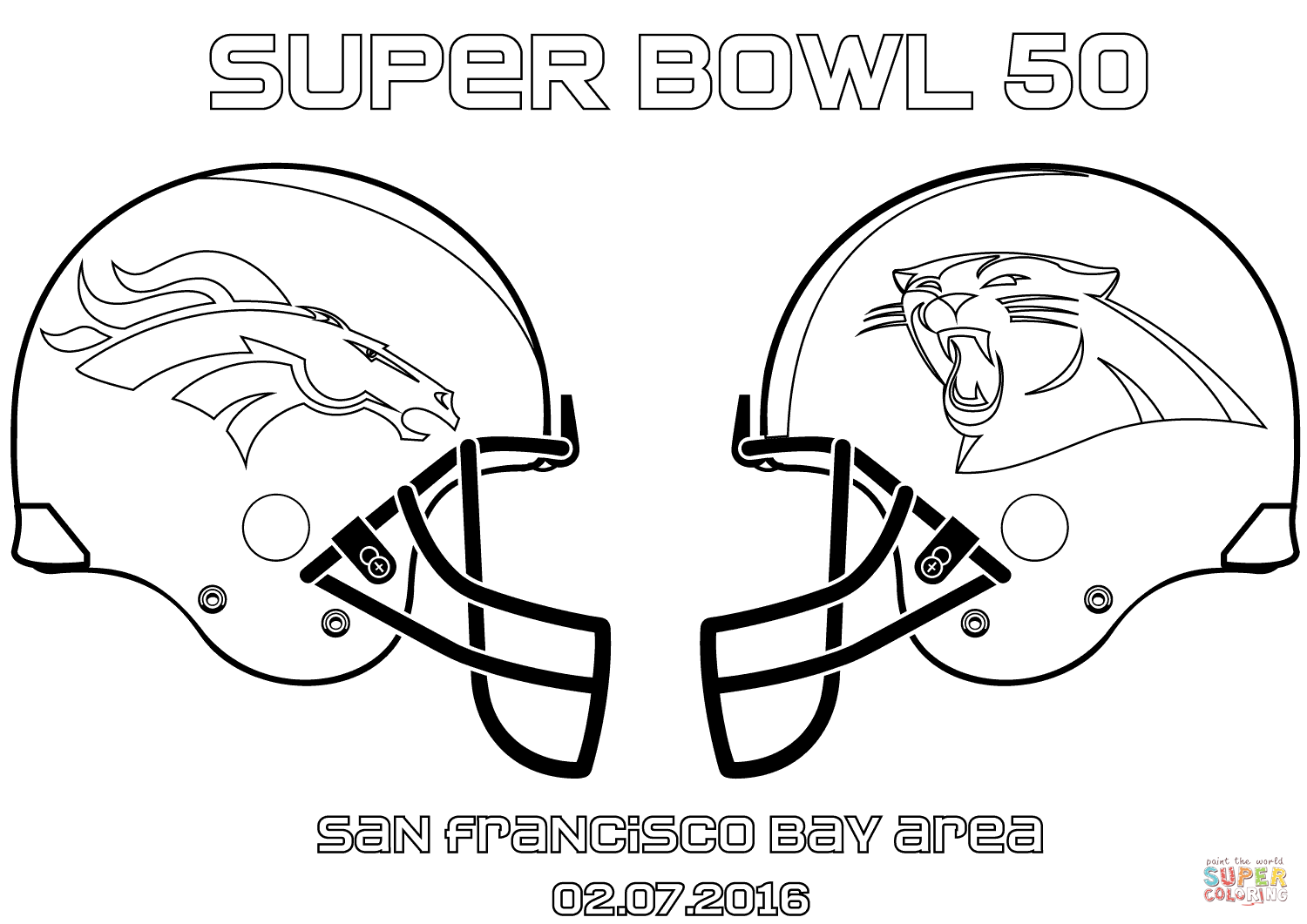 free coloring pages football broncos - photo#29