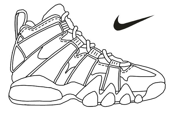 Nike air max printable coloring page