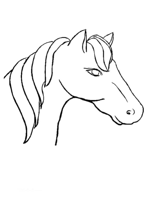 Coloring Pages Horses Heads Ribbon Print - Coloring Home