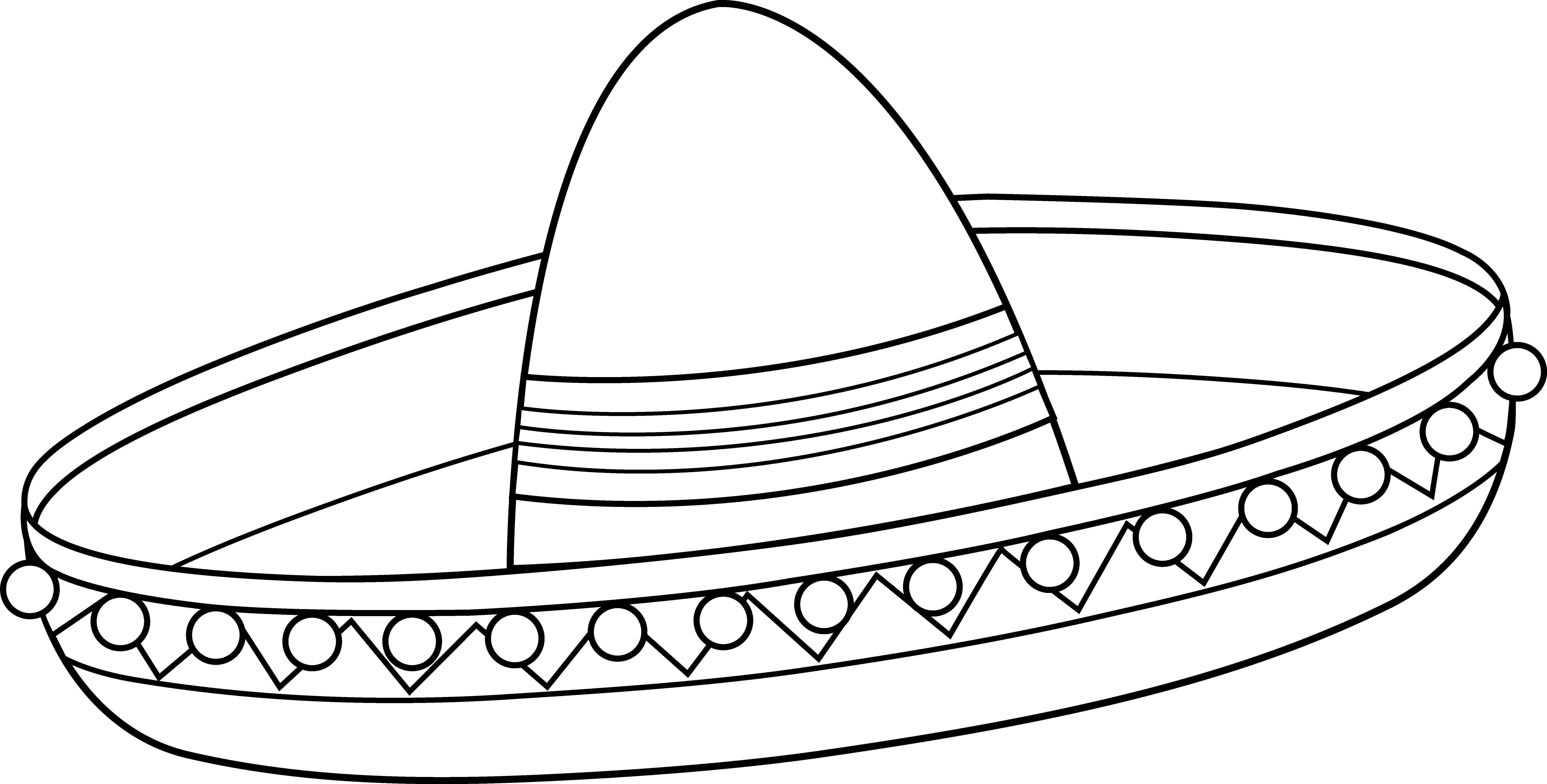 Cinco de mayo mexican flag coloring page - Mexican Sombrero Coloring Page