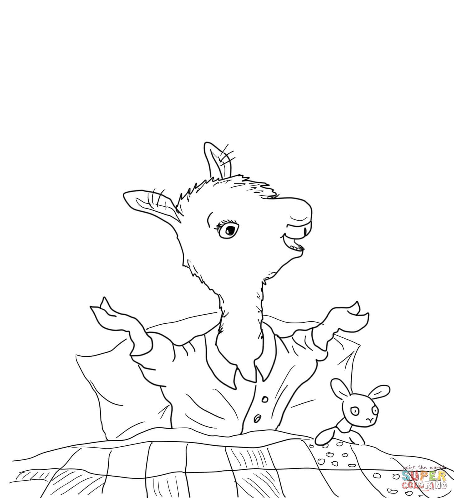 Llama llama red pajama coloring pages