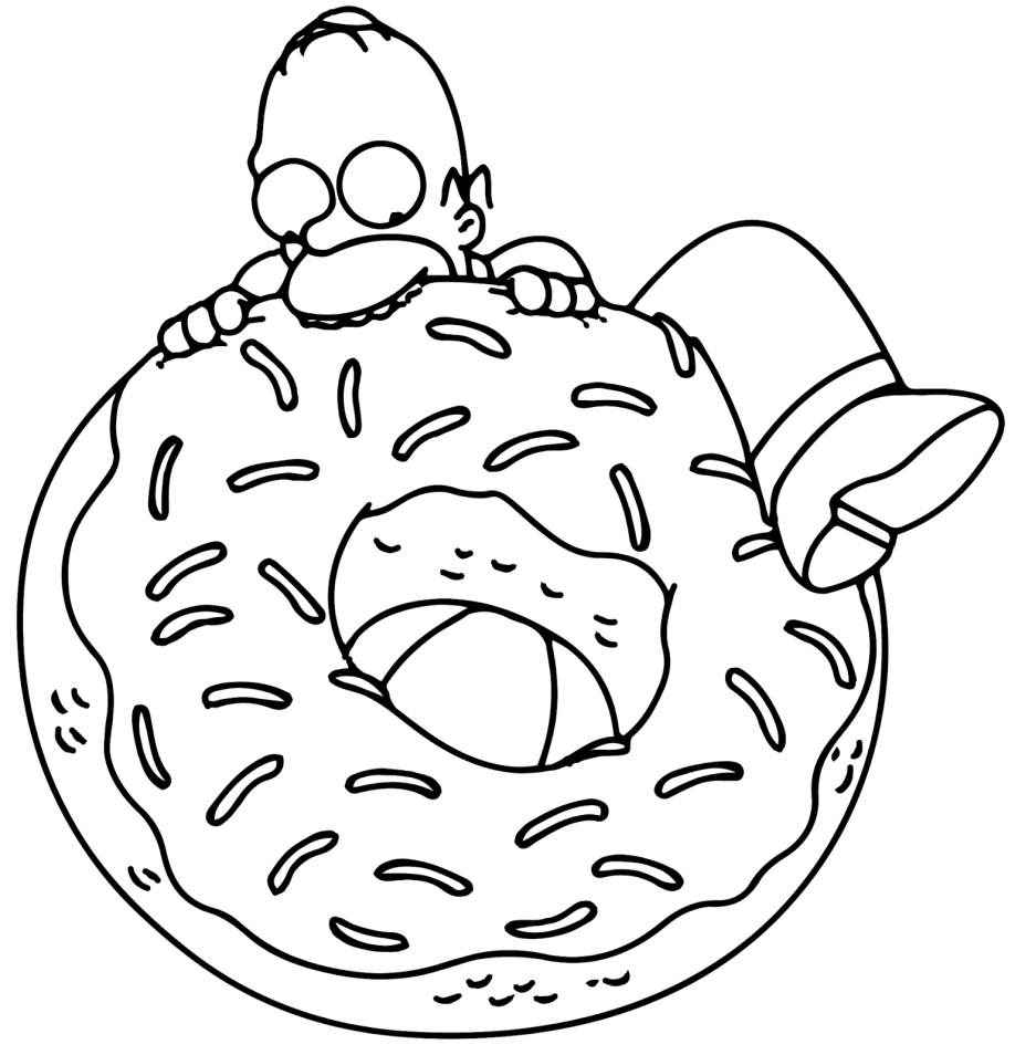the simpsons coloring book pages - photo#30