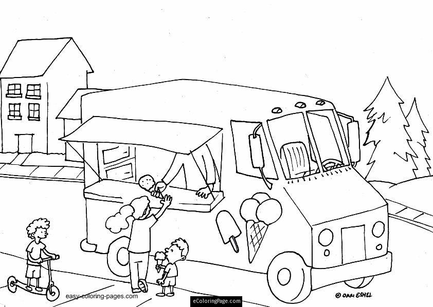 Ice Cream Truck Coloring Page