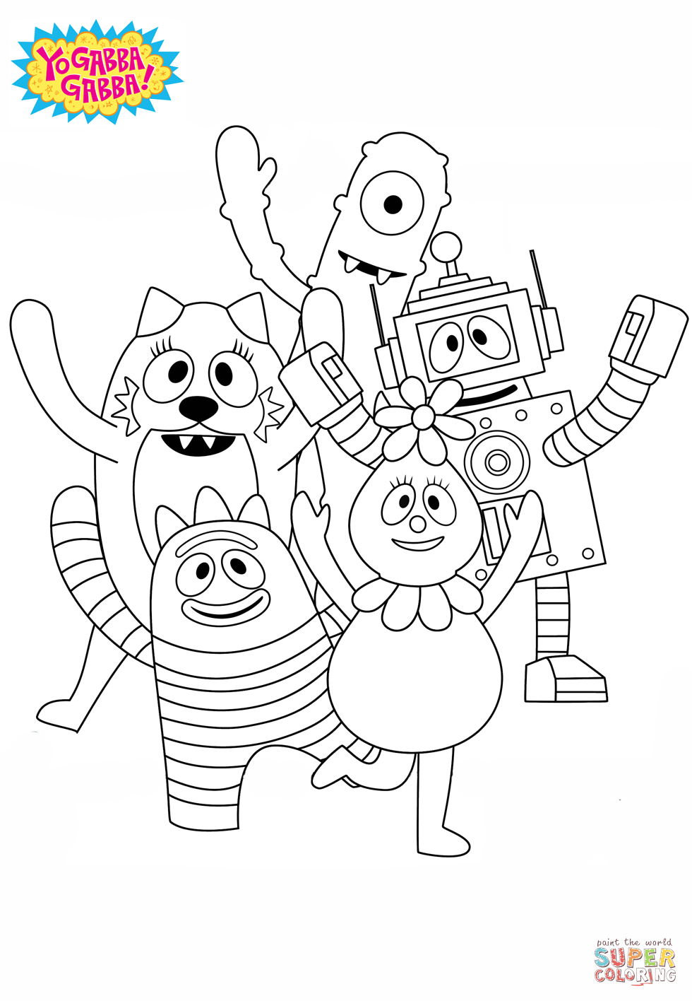 Yo Gabba Gabba Dj Lance Coloring Pages  Coloring Home