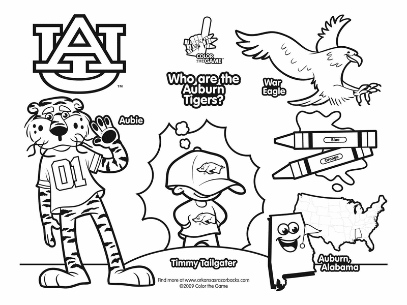 auburn tigers coloring pages - photo#1