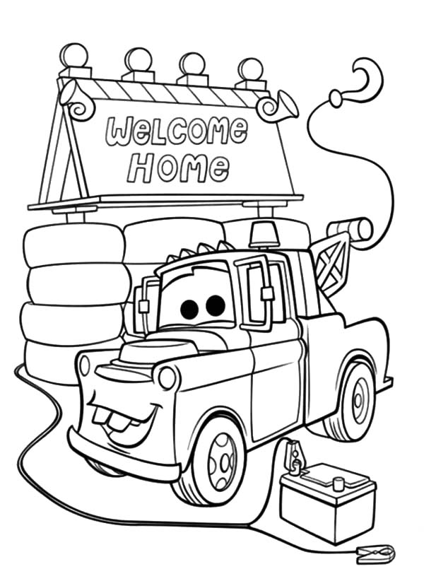 free printable mater coloring pages - photo#31