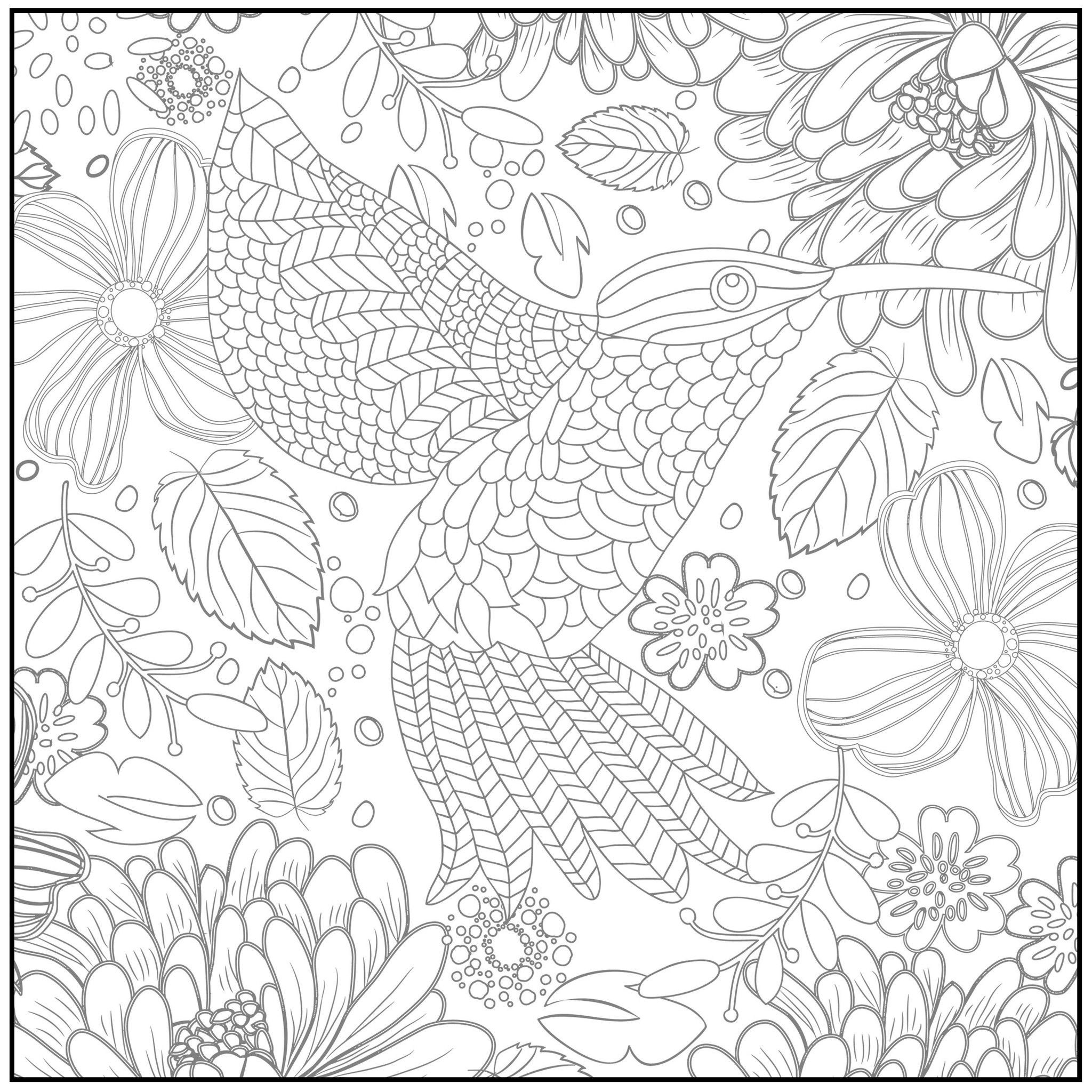 Adult Coloring Pages Free Spring Coloring Home