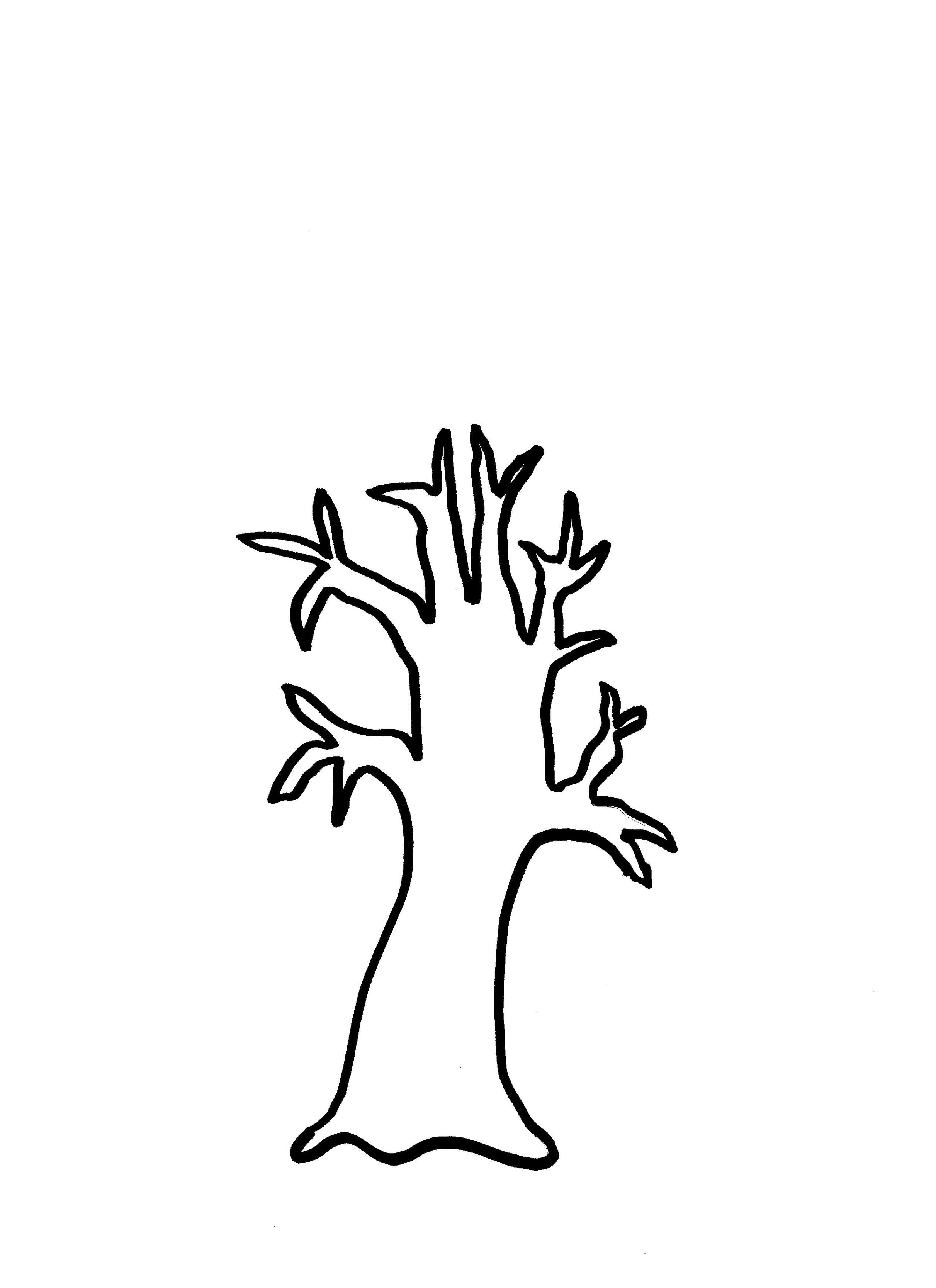Coloring Page Of A Tree Trunk