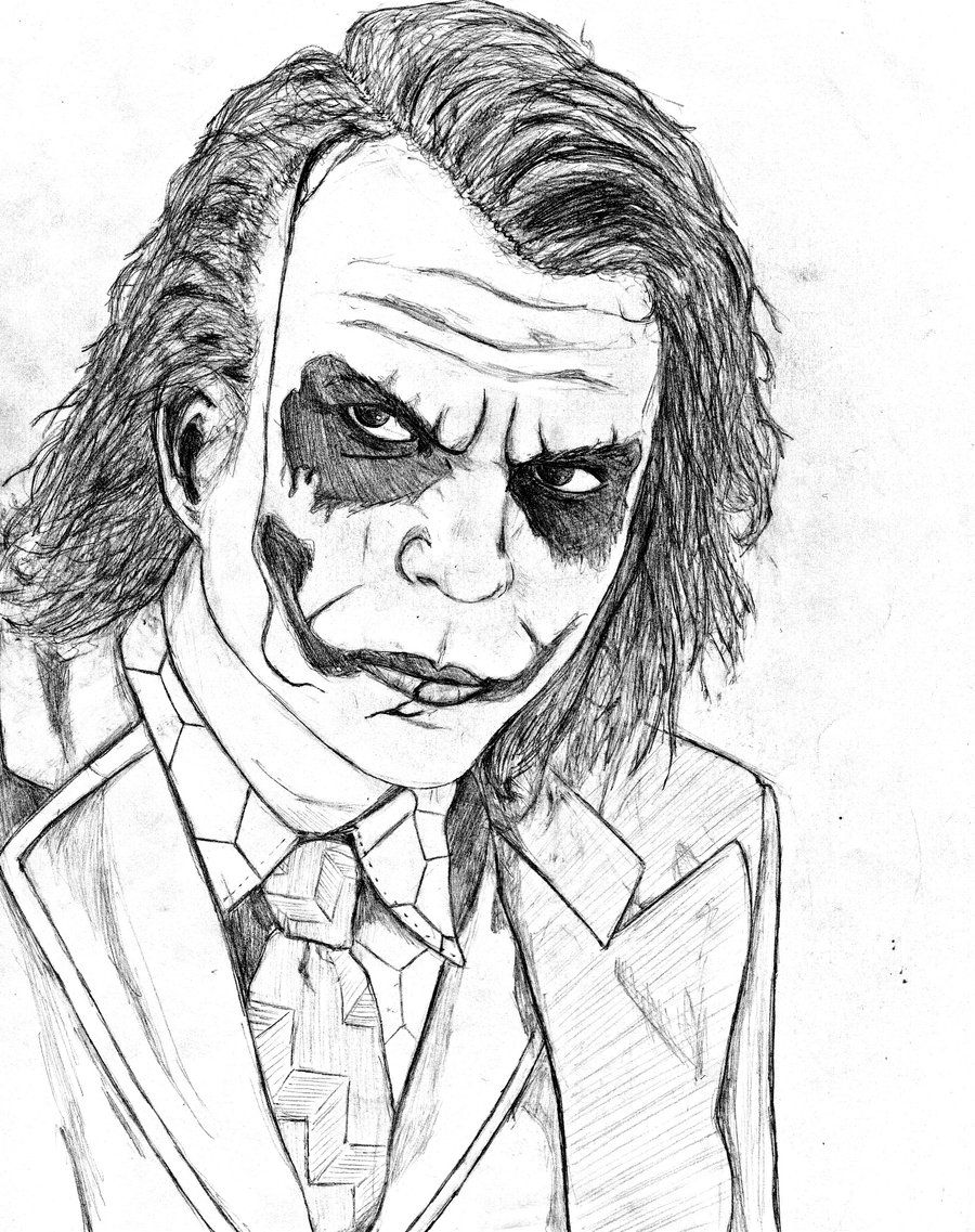 Printable coloring pages joker - 11 Pics Of Dark Knight Joker Coloring Pages Batman Dark Knight