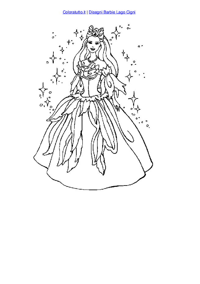 Barbie of swan lake coloring pages ~ The Swan Princess Coloring Page - Coloring Home