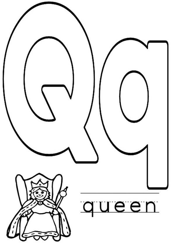 Letter Q Coloring Pages Miakenasnet