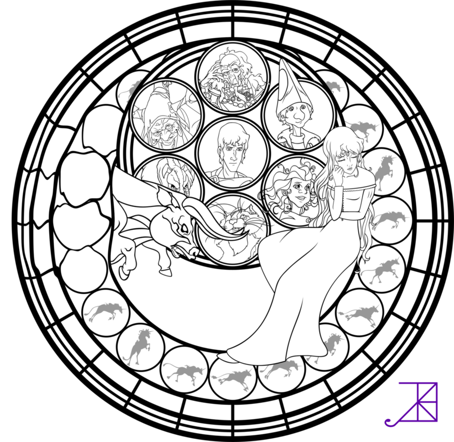 renaissance stained glass coloring pages - photo#7