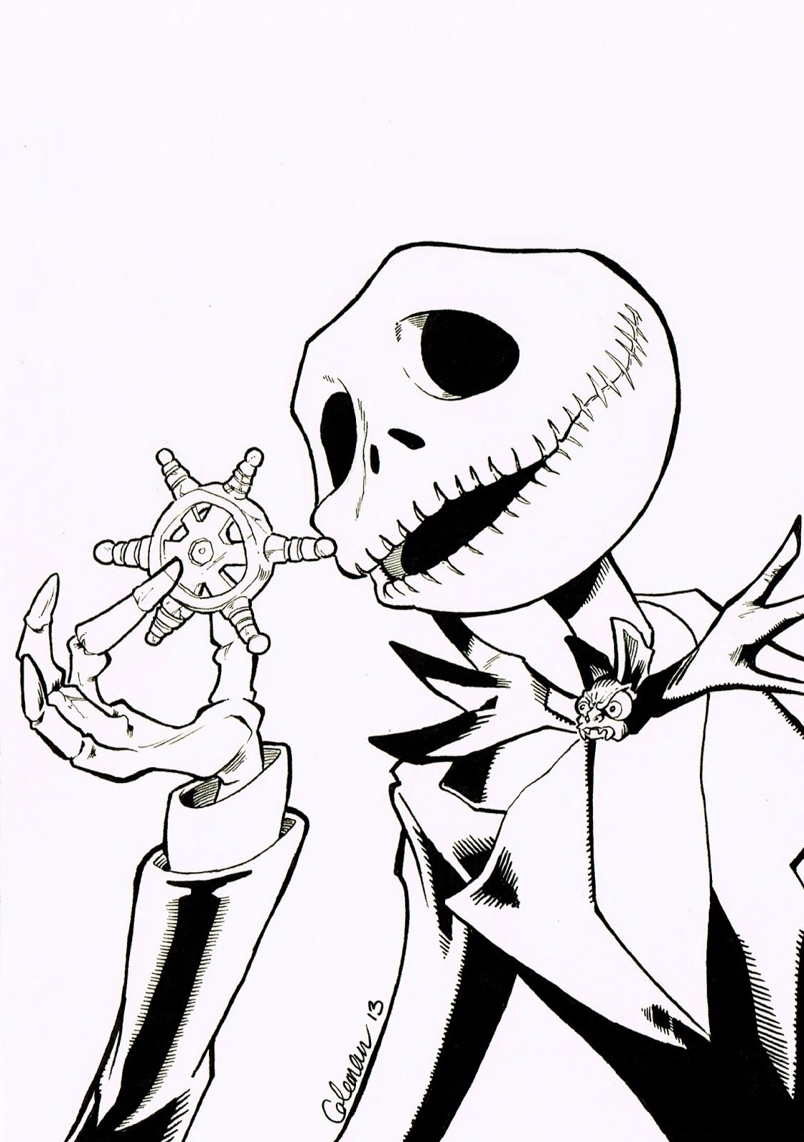 Nightmare Before Christmas Coloring Pages Free Nightmare Before ...