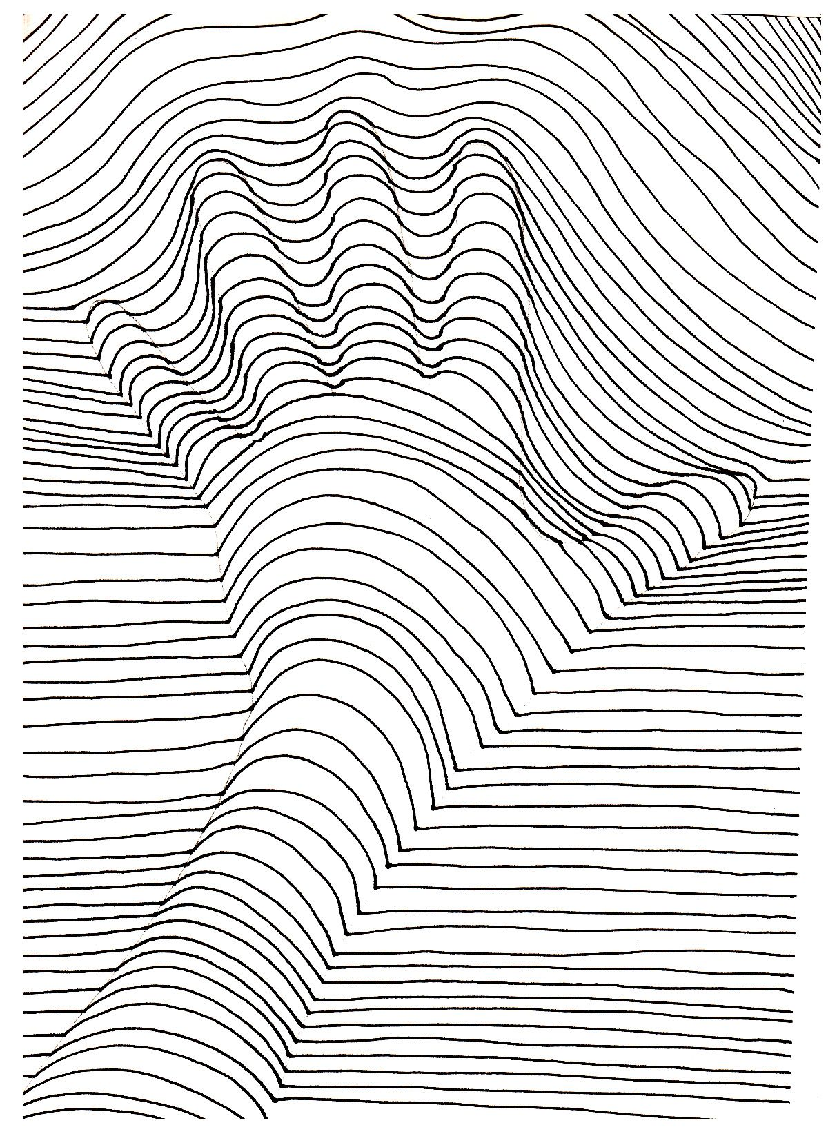 op art coloring pages - photo#4