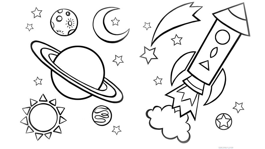coloring pages on space - photo#9
