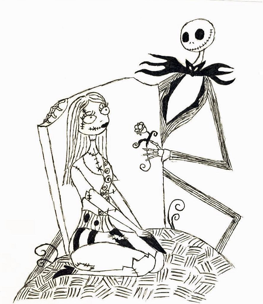 coloring book picture nightmare before christmas coloring page - Nightmare Before Christmas Coloring Book