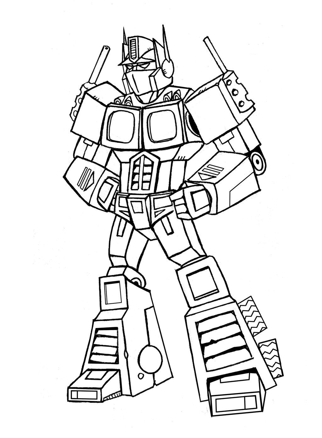 Transformers Optimus Prime Coloring Pages - Coloring Page Photos