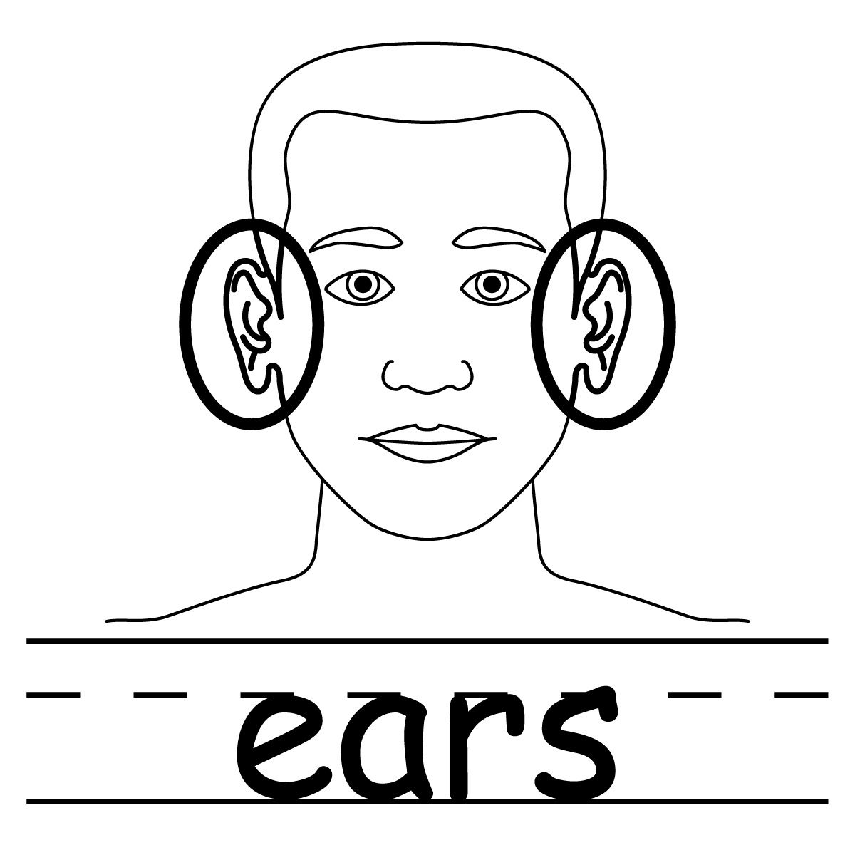 Ear Of Corn Coloring Pages Ear Coloring Pages Bunny Ears Coloring