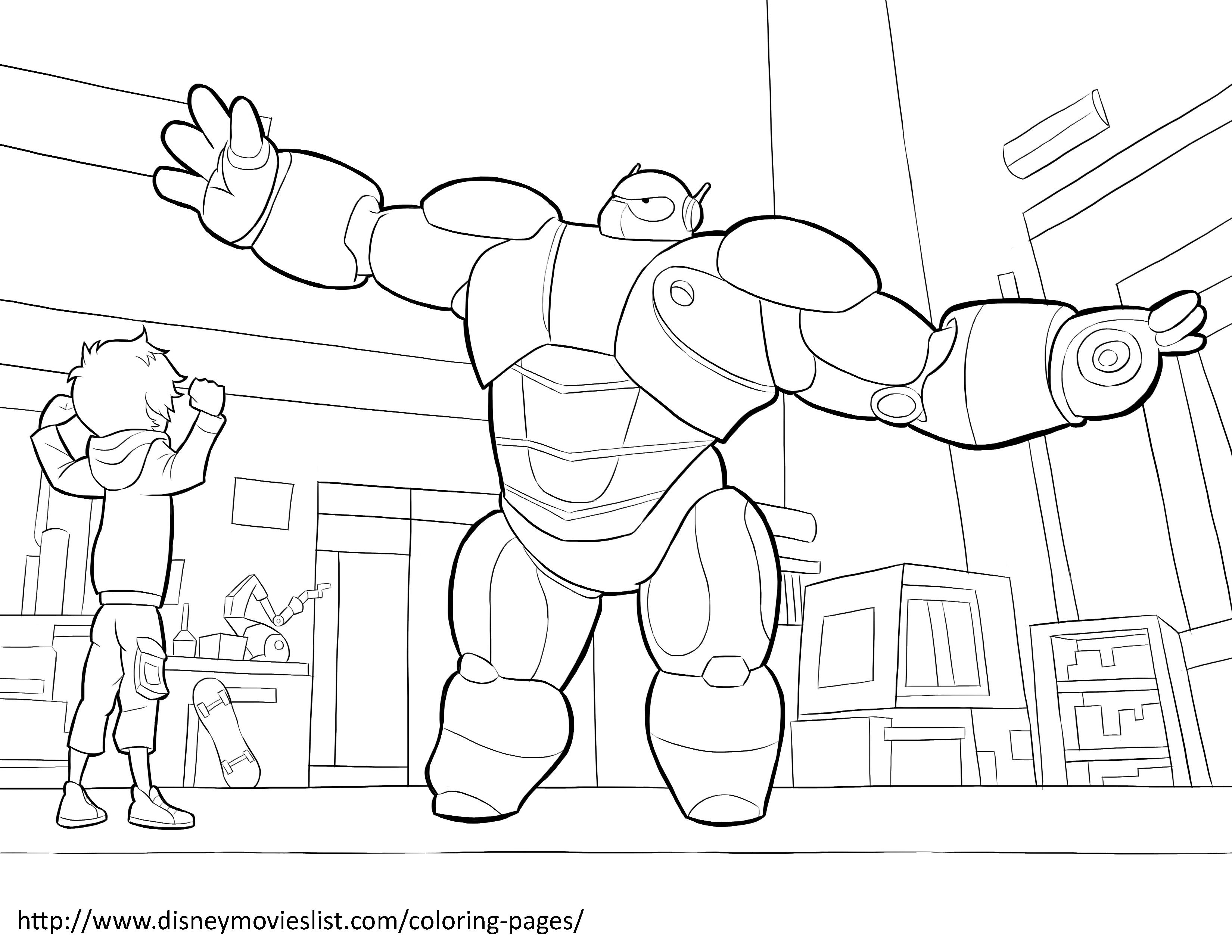 Big Hero 6 Coloring Pages | Disneyclips.com | 2550x3300