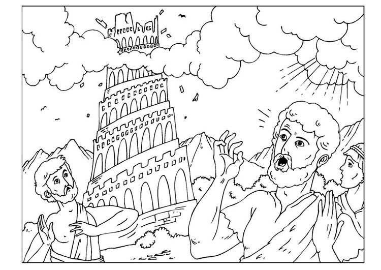 Coloring page tower of Babel - img 26005.