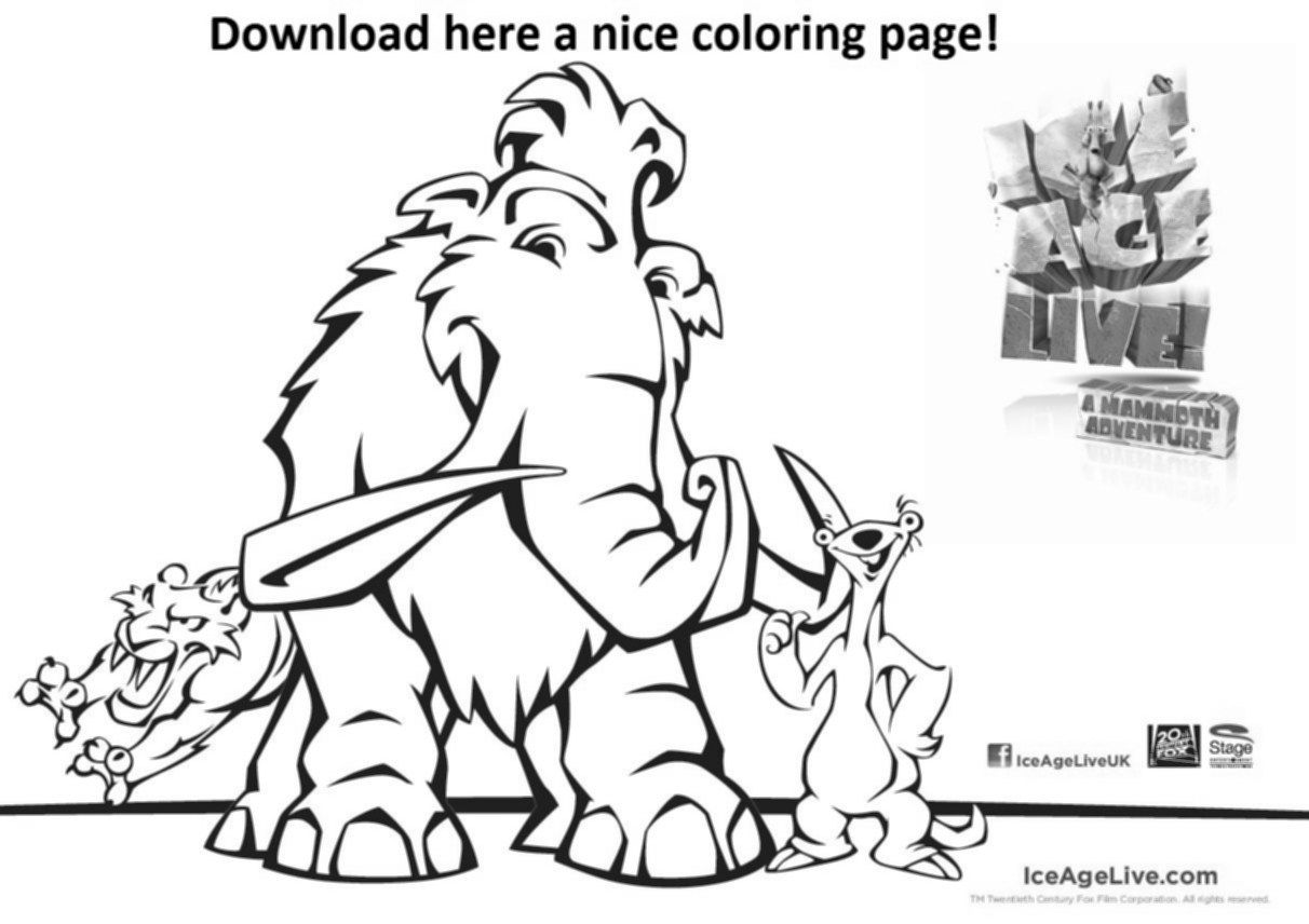 Ice Age Mammoth Coloring Pages – Coloring Pics