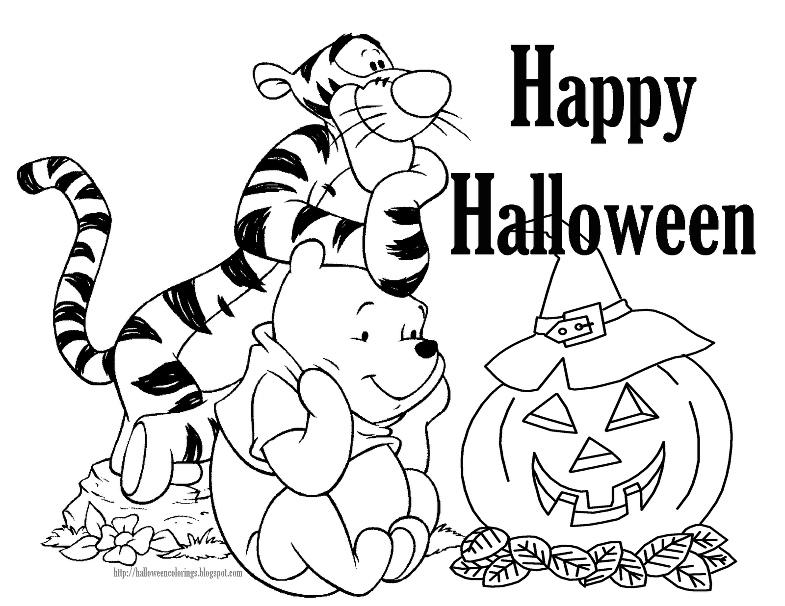 Coloring book pages halloween - Disney Halloween Coloring Book Pages Kids Coloring Pages