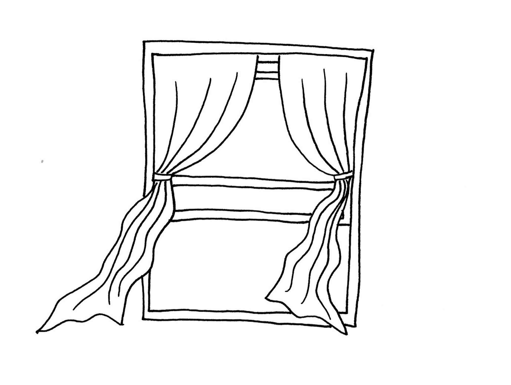 Window Coloring Sheet Coloring Pages For Kids And For Adults