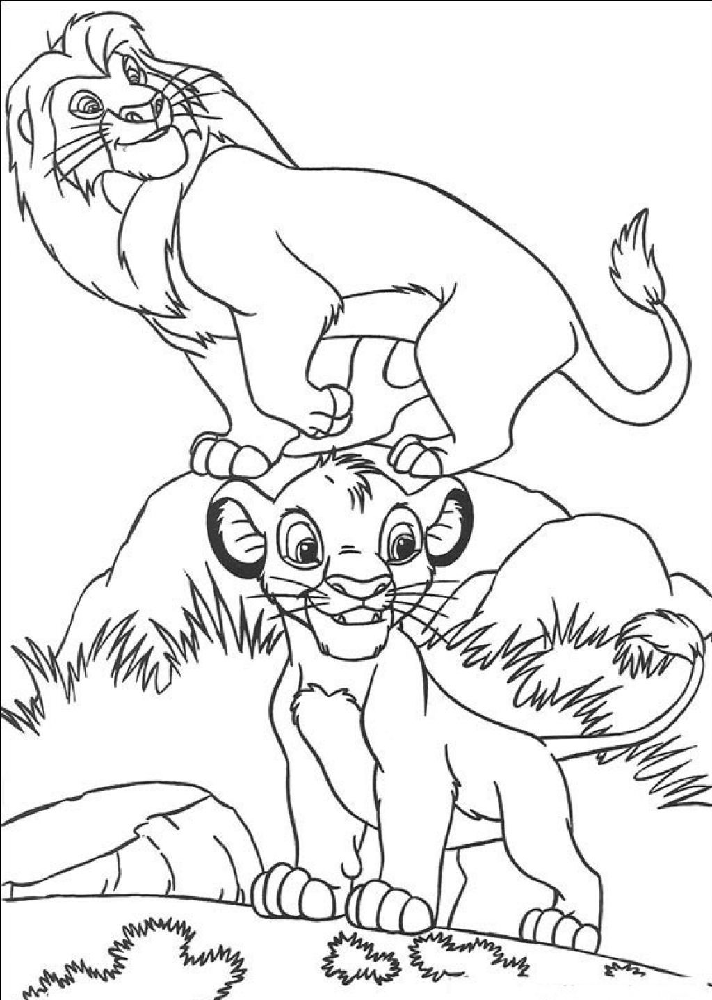 Printable-Simba-Coloring-Pages.jpg (1024×1437) | Disney Coloring ...