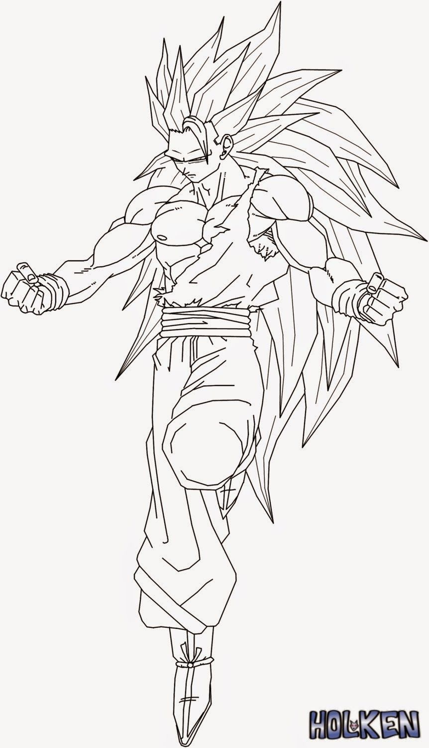 Ssj4 Goku Coloring Pages Coloring Home