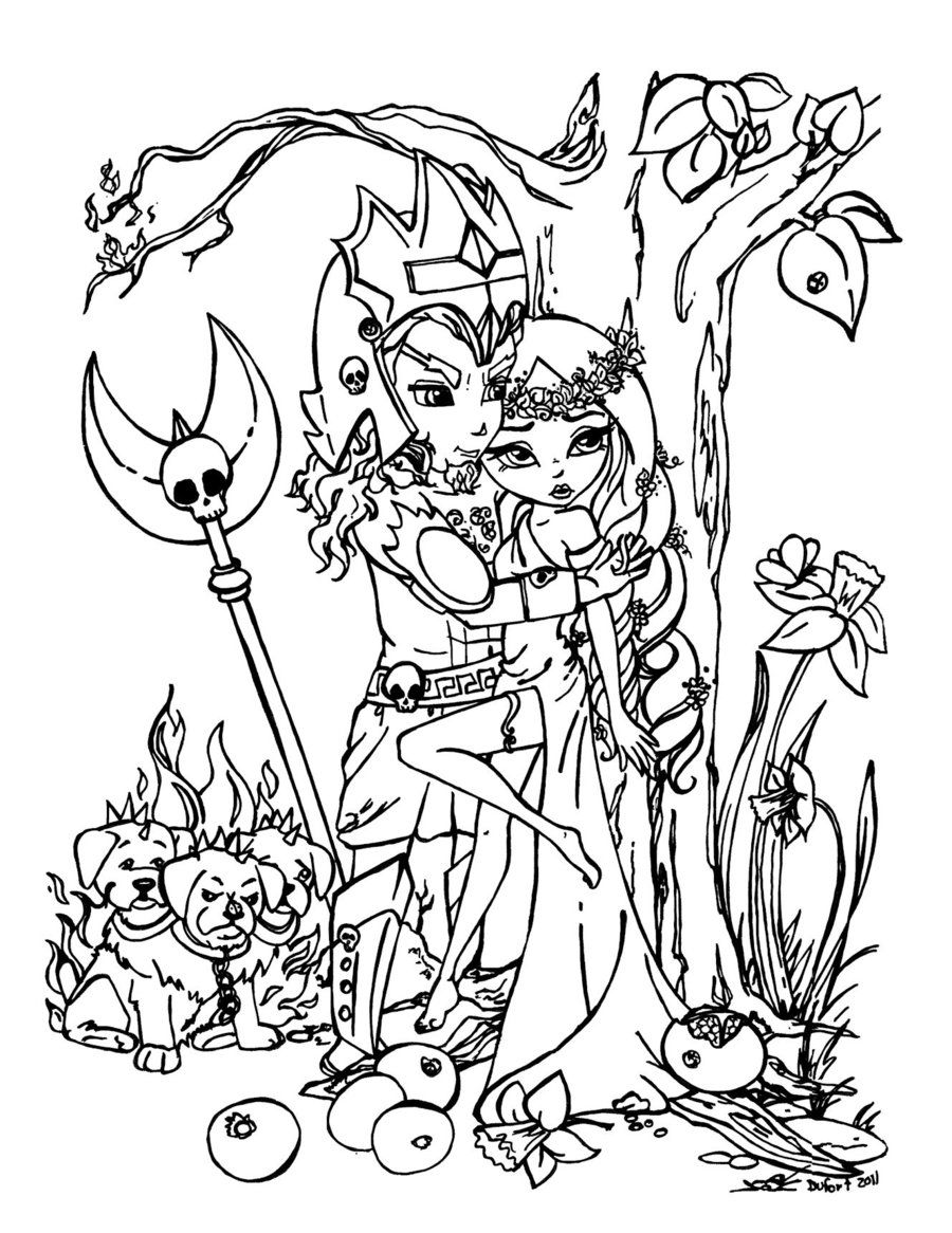 persephone coloring pages - photo #22