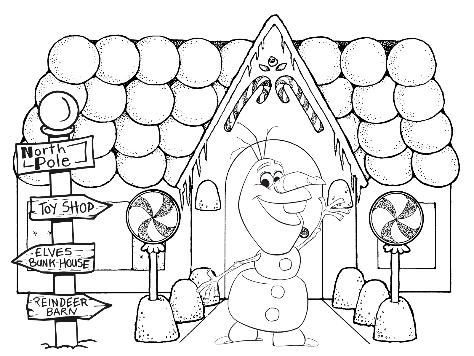 Gingerbread House Coloring Pages Pdf : Christmas gingerbread house coloring pages printable