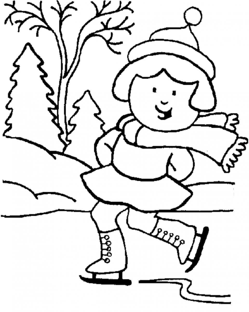 Winter Sports Coloring Pages Free Printable Coloring Sheets Winter ...
