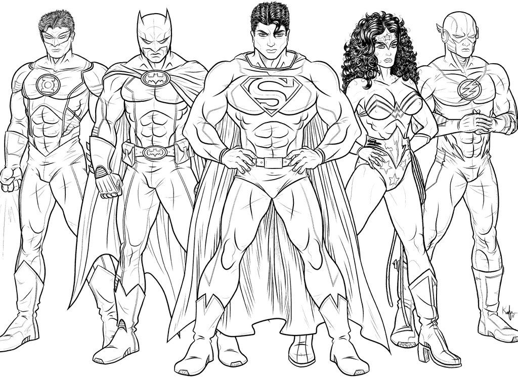 justice league coloring pages to download and print for free - Coloring Pages Superheroes