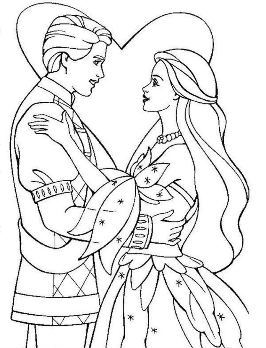 prince princess coloring pages - photo#21
