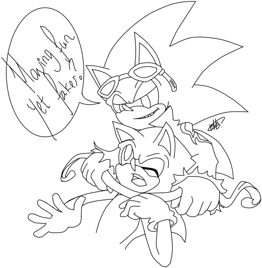 Super Sonic Coloring Page Coloring